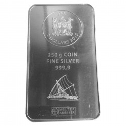 500 g Silber Münzbarren Fiji (diff.best.)