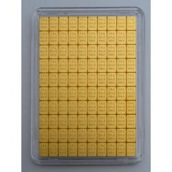 100 x 0,5 g Gold Tafelbarren