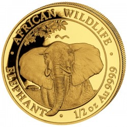 1/2 Oz Gold Somalia Elefant...
