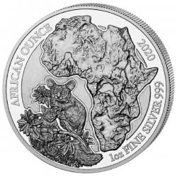 1 Oz Silber Ruanda Bushbaby...