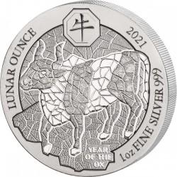 1 Oz Silber Ruanda Ochse...