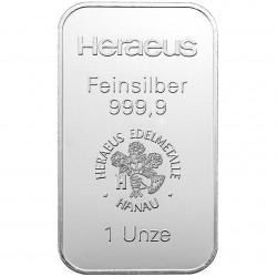 100g Silberbarren Heraeus