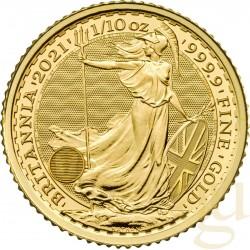 1/10 Oz Gold Britannia 2021