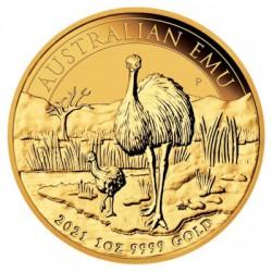 1 Oz Gold Emu Australien 2021